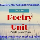Poetry Month  (Part 2 of 2) CCSS Aligned