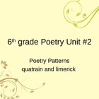 Poetry Patterns for quatrain and limerick