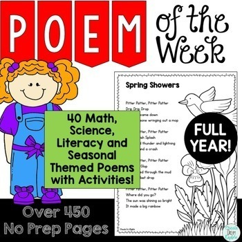 Poetry {Poem of the Week} MEGA Bundle Activity Packs 1-10 Shared Reading