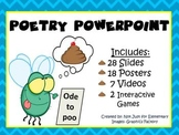 Poetry Powerpoint w/ 7 Video Clips and 18 Word Wall Vocabu