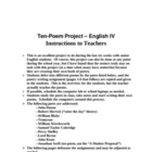 Poetry Project for High School Seniors