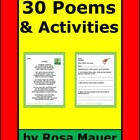 Poetry Reading Comprehension Language Arts Unit Set of 30