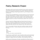Poetry Research Project