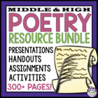 Poetry Bundle / Unit: Resources To Teach Reading, Writing,