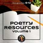 Poetry Resources Bundle for Writing, Reading, &amp; Understand