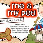 Poetry Station / Shared Reading / Task Cards ~ Me & My Pet