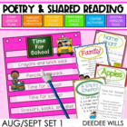 Poetry Station and Shared Reading for Aug/Sept-CC aligned