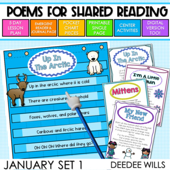 Poetry Station and Shared Reading for January-CC aligned
