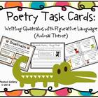 Poetry Task Cards: Writing Quatrains with Figurative Langu