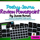 Poetry Terms & Devices Review Powerpoint Game