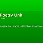 Poetry Terms Lesson 1