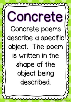 Poetry Unit: Directions and Examples