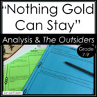 "Poetry Writing and Analysis:  ""Nothing Gold Can Stay"" and"