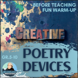 Poetry and Literary Devices - Creative Assignment