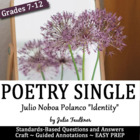 Poetry and Self-Portrait Collage Activity-  beginning or e