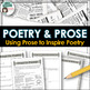 Poetry based on Prose - write poetry based on a newspaper article