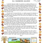 Poetry dramatic presentation - autumn, Thanksgiving, Halloween