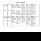 Poetry explication rubric
