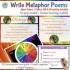 Poetry - write Colour poems in 3 easy steps