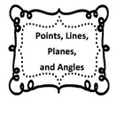 Points, Lines, Planes, and Angles Vocabulary