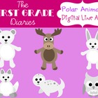 Polar Animals {Digital Clip Art}  Arctic Fox, Moose, Snowy