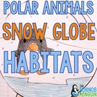 Polar Animals Habitat Snow Globes