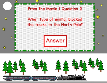 "Polar Express Smartboard ""Race to the North Pole"" Jeopardy lesson"