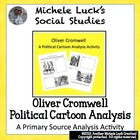 Political Cartoons Activity on Oliver Cromwell and English