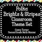 Polka Brights & Stripes Classroom Theme Set