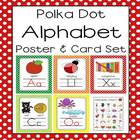 Polka Dot A-Z Alphabet Poster Card &amp; Picture Letter Sound Pack