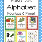 Polka Dot Alphabet Poster Card and Letter Sound Set (Fount