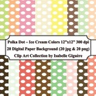 Polka Dot Backgrounds - Ice Cream Colors (Digital Paper Cl