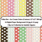Polka Dot Backgrounds - Ice Cream Colors (Digital Paper -
