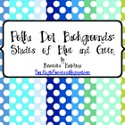 Polka Dot Backgrounds: Shades of Blue, Green, Red, Pink, P