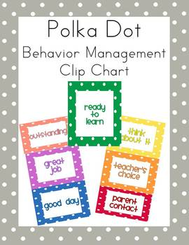 Polka Dot Behavior Management Clip Chart FREE