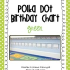 Polka Dot Birthday Chart {Green}