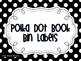 Polka Dot Book Bin Labels