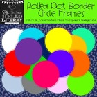 Polka Dot Border Circle Frames: For Personal & Commercial Use