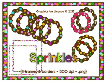 Polka Dot Borders and Frames 2 {Sprinkles}