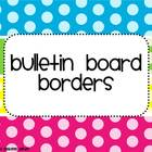 Polka Dot Bulletin Board Borders