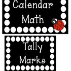 Polka Dot Calendar Math Titles