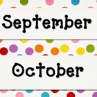 Polka Dot Calendar Set 