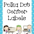 Polka Dot Center Labels