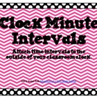 Polka-Dot & Chevron Clock Minute Intervals FREEBIE