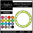 Polka Dot Circle Frames {Graphics for Commercial Use}