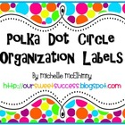 Polka Dot Circle Organization Labels