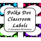 Polka Dot Classroom Label Set