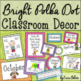 Polka Dot Classroom Labels and Signs