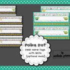 Polka Dot Desk Name Tags with Skills {Optional Owls}