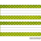 Polka Dot Desk Name Tags
